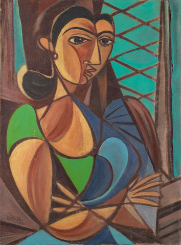 George Keyt (Sri Lanka, 1901-1993) Schoolteacher,