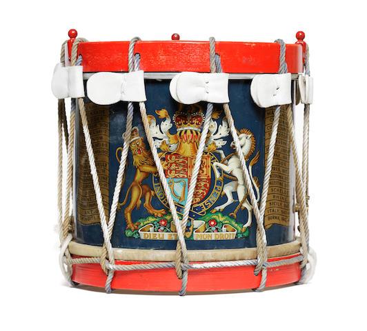An Elizabeth II general service military side drum