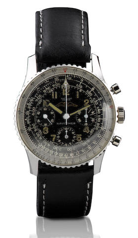 Breitling. A vintage stainless steel manual wind chronograph wristwatchNavitimer, Ref: 806, Case no. 994813, Circa 1964s