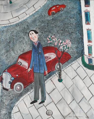 Dora Holzhandler (British, born 1928) Man with a red car
