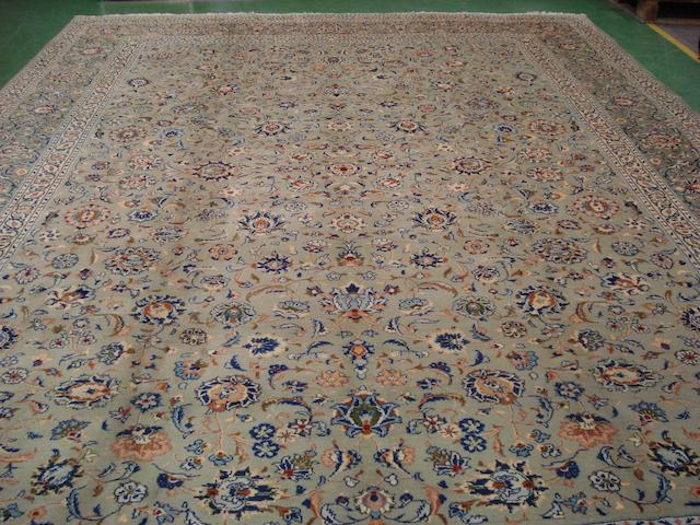 A Kashan carpet Central Persia, 443cm x 314cm