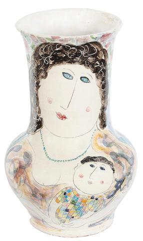 Dora Holzhandler (British, born 1928) Mother & Child 29cm (11 1/2in)(height)