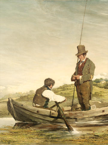 Erskine Nicol R.S.A., A.R.A. (British, 1825-1904) Out for the Day, The Fly Fishers 88.5 x 59.5 cm. (