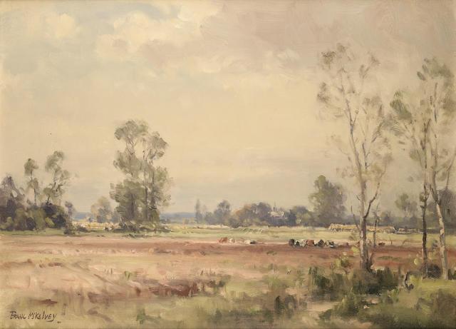 Frank McKelvey R.H.A., R.U.A. (Irish, 1895-1974) Normandy landscape 50.8 x 68.7 cm. (20 x 27 in.)