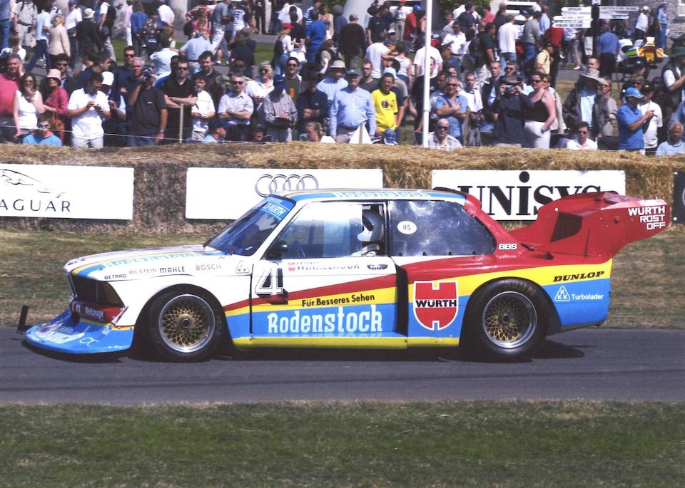 The ex-Jorg Obermoser,1976 BMW SCHNITZER 320i TURBO GROUP 5 RACING TOURING CAR  Chassis no. 5258757