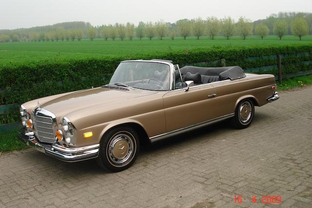 1971 Mercedes 280 S.E 3.5 Cabriolet  Chassis no. 111027120022615 Engine no. 116980-12-002331