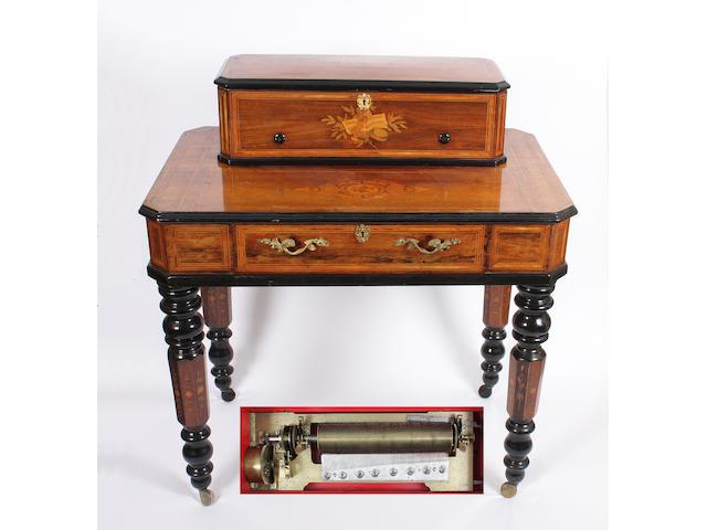 A Mandoline interchangeable musical box on stand by Paillard-Vaucher et Fils 7
