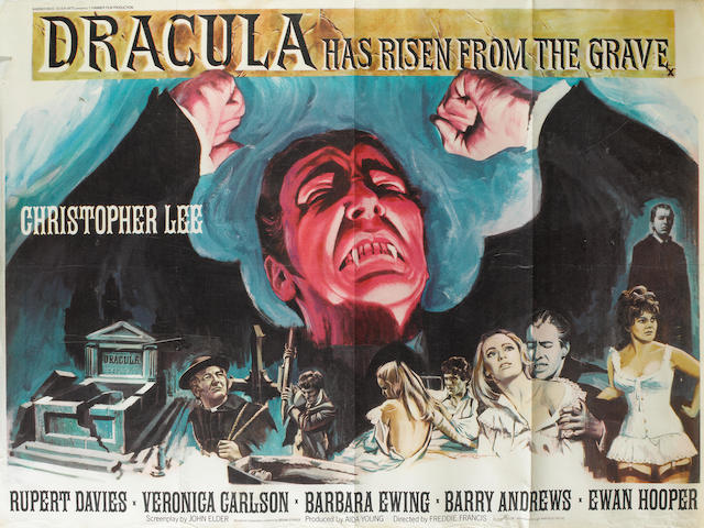 A collection of thirteen 1960's film posters, the majority being U.K. Quads, titles including:13