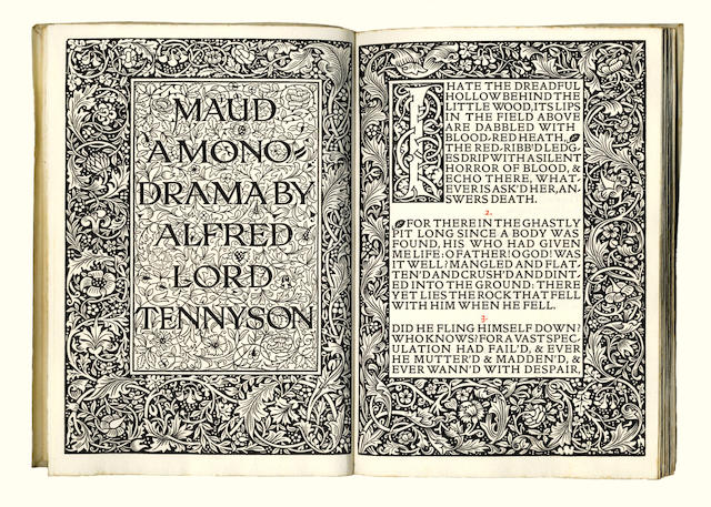KELMSCOTT PRESS TENNYSON (ALFRED) Maud, a Monodrama, LIMITED TO 500 COPIES