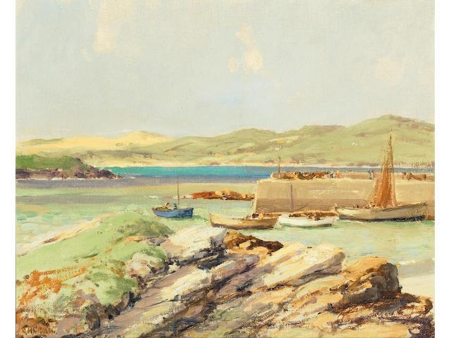 James Humbert Craig (Irish, 1878-1944) Dunfanaghy Harbour 35.3 x 43.3 cm. (14 x 17 in.)