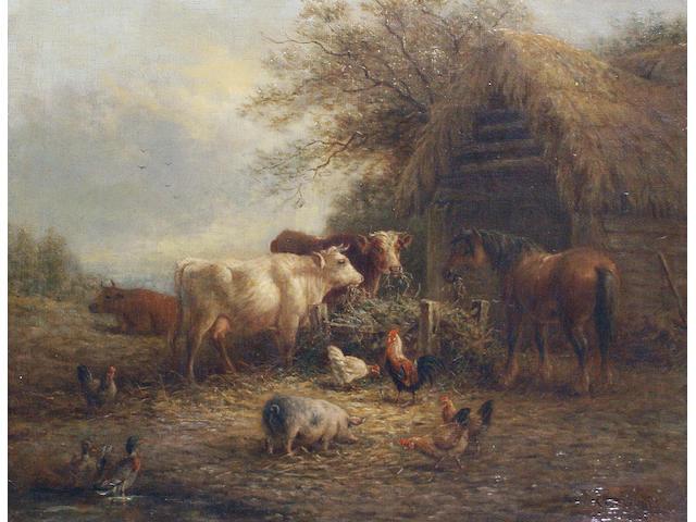 Henry Charles Bryant (British, fl. 1860-1880) Farmyard scenes, a pair 35.5 x 45.8cm (14 x 18 1/16in); 29 x 45.3cm (11 7/16 x 17 13/16in), (2).