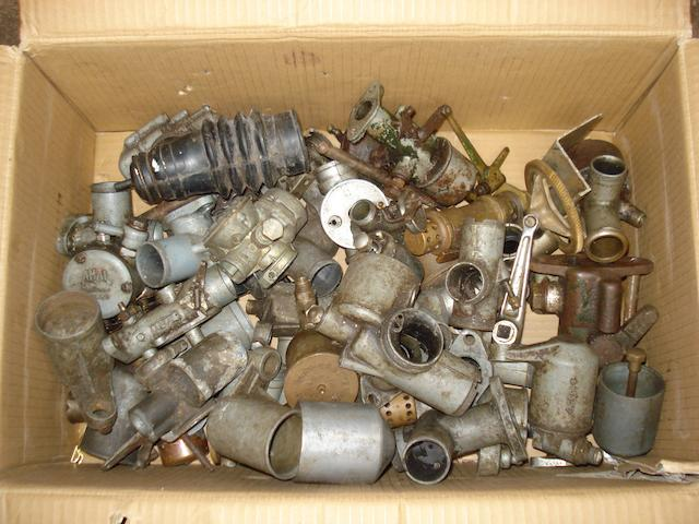 A selection of Amal and other carburettor spares and accessories,