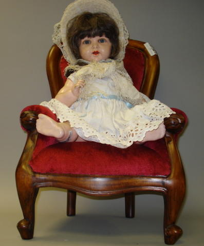 K&R 728 celluloid baby doll and armchair 2