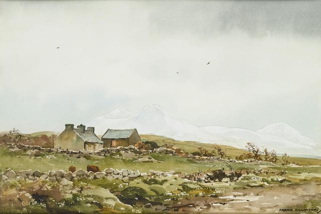 Frank J. Egginton (British, 1908-1990) Winter near Falcarragh, Donegal 24.7 x 37 cm. (9 3/4 x 14 1/2