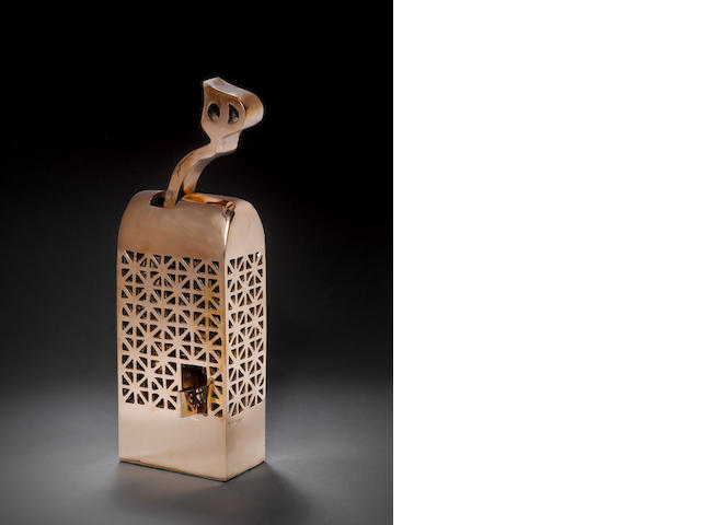 Parviz Tanavoli (Iran, born 1937) Heech in the Cage, 38 X 13 X 14 cm. (14 15/16 x 5 1/8 x 5 1/2in)