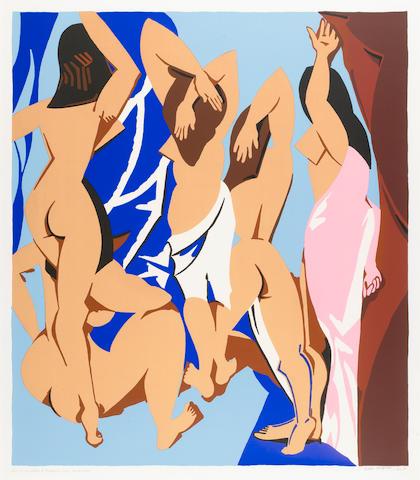 Patrick Caulfield (British, 1936-2005) Les Desmoiselles D'Avignon vues de Derrière Screenprint, 1999