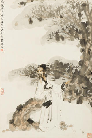 Fu Baoshi (1904-1965) Scholar under the Pine Tree