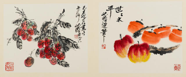 Zhu Qizhan (1892-1996) Album of Flowers, Fruits, Fish and Crab