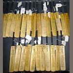 1960's/70's miniature hand signed cricket bats