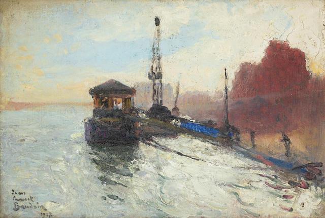 Jean-Franck Baudoin (French, 1870-1961) Quai de Seine