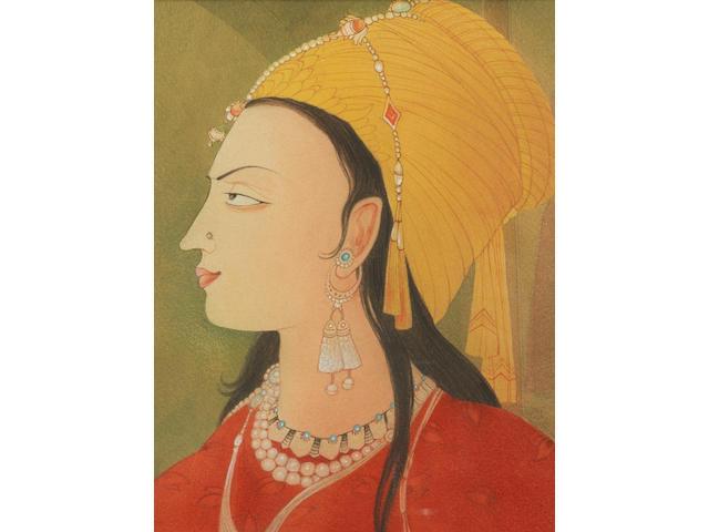 Abdur Rahman Chughtai (Pakistan, 1897-1975) The Mughal Princess,