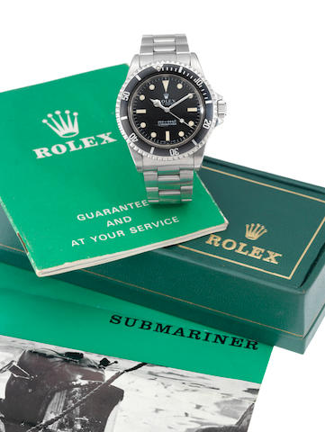 Rolex. A fine stainless steel automatic centre seconds wristwatch together with original Rolex box a