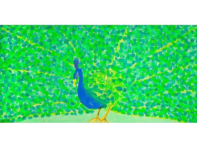 Ding Xiongquan (Walasse Ting, b.1929) Peacock