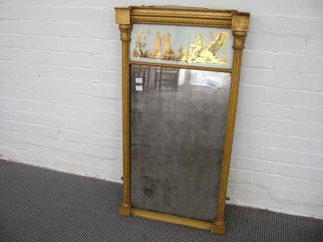 A Regency gilt wall mirror,