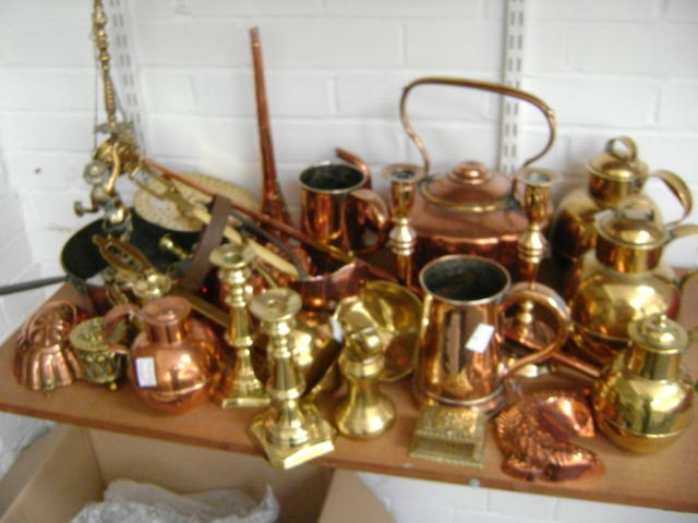 Collective copper and brass wares,