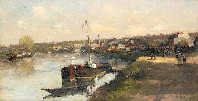 Albert Lebourg (French, 1849-1926) Bord Seine Près Bas Meudon