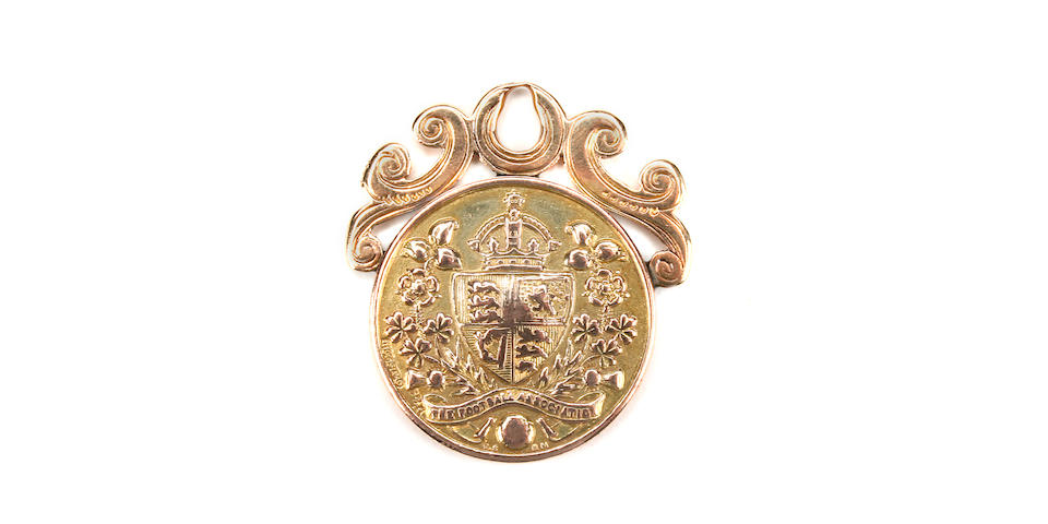 1893/94 F.A. Cup final gold medal awarded to J.Cassidy of Bolton Wanderers