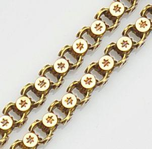 A Victorian long gold chain