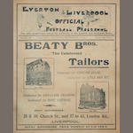 1905/06 Liverpool/Everton bound programmes