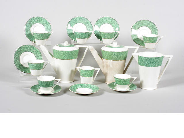 A Wedgwood & Co 'Garden' pattern part coffee service