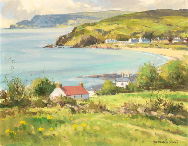Maurice Canning Wilks R.U.A., A.R.H.A. (Irish, 1910-1984) Morning Light, Cushendun, Co. Antrim 40.5 x 51 cm. (16 x 20 in.)