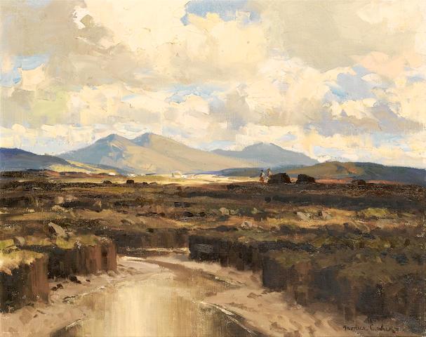Maurice Canning Wilks R.U.A., A.R.H.A. (Irish, 1910-1984) Bogland, Gweedore, Co. Antrim 40.5 x 51 cm. (16 x 20 in.)