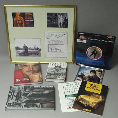 A selection of various signed James Bond related ephemera,