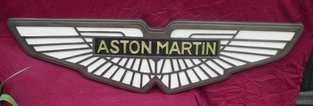 A cold cast bronze Aston Martin badge,