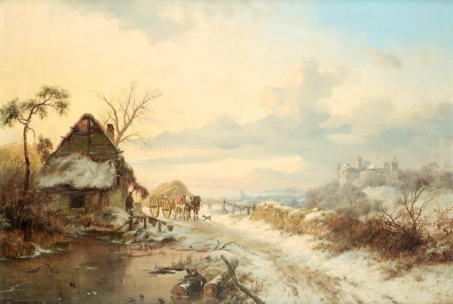 Frederik Marinus Kruseman (Dutch, 1816-1882) Returning home