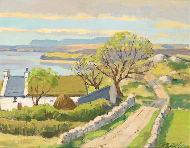 Robert Taylor Carson (Irish, born 1919) Coastal pathway 31.5 x 39 cm. (12 1/4 x 15 1/4 in.)