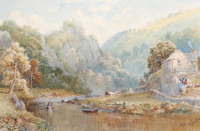 Philip Mitchell (British, 1814-1896) The Derwent at Matlock, Derbyshire; together with another view