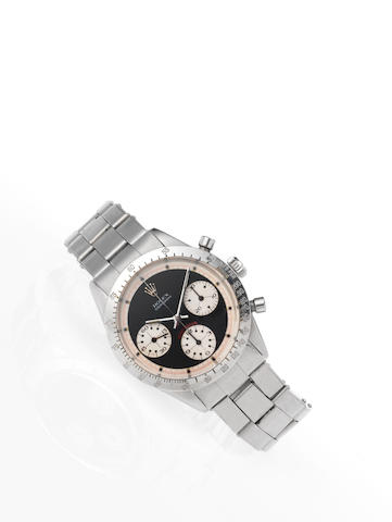 Rolex. A fine and rare stainless steel chronograph wristwatch Cosmograph Daytona, Ref.6262, Case No.
