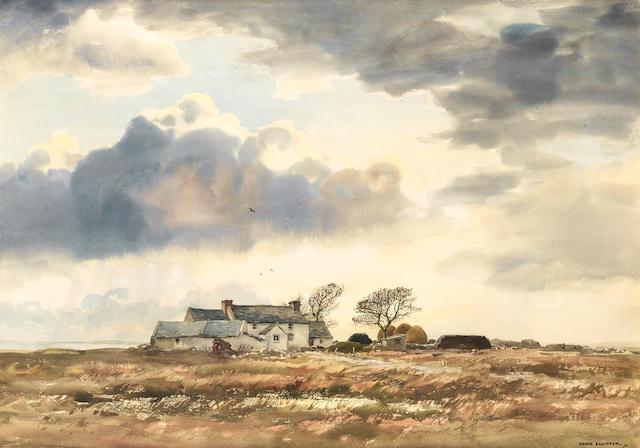 Frank J. Egginton (British, 1908-1990) Farmhouse, Winter Landscape, Co. Donegal; Near Roundstone, Co