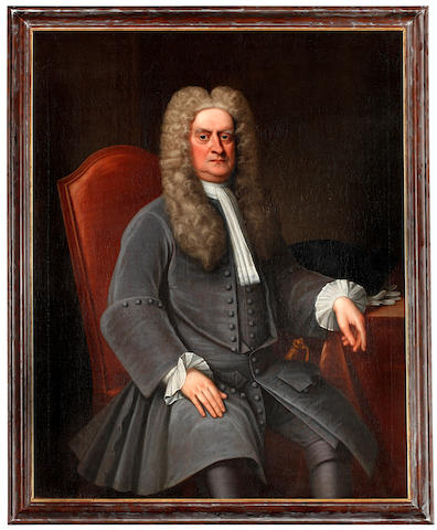 NEWTON (ISAAC) Portrait of a Gentleman Seated, said to be Sir Isaac Newton