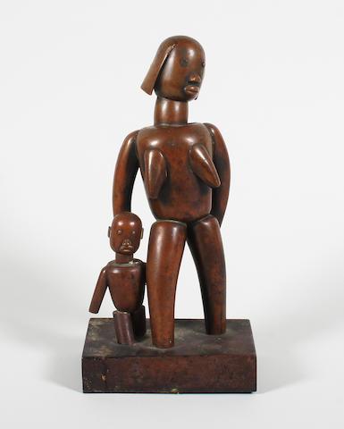 Margit Tevan: A copper sculpture, 27.5cm high.