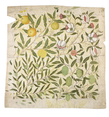William Morris for Morris, Marshall, Faulkner and Company 'Fruit' or 'Pomegranate' a Wallpaper Desig