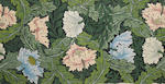 William Morris for Morris & Company 'Poppy' or 'Wreath' a Wallpaper Design with poppies and acanthus