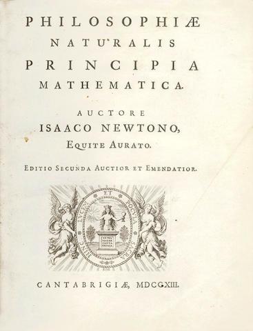 NEWTON (ISAAC) Philiosophiae naturalis principia mathematica. Editio secunda auctior et emedatior