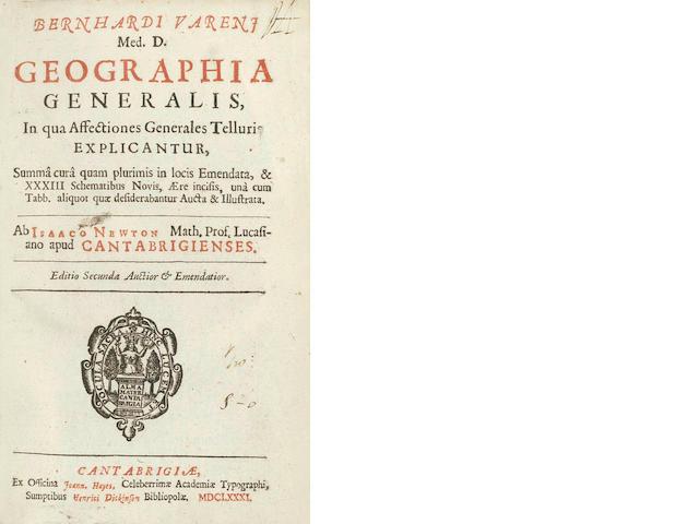 VARENIUS (BERNHARD) Geographia generalis, in qua affectiones generales telluris explicantor