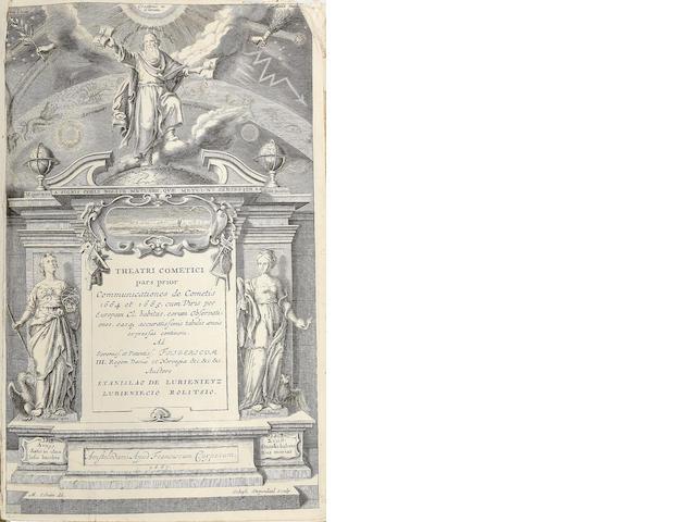 LUBIENECKI (STANISLAW) Theatrum cometicum, 3 parts in one vol.
